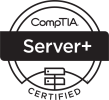 ServerPlus Logo Certified Black